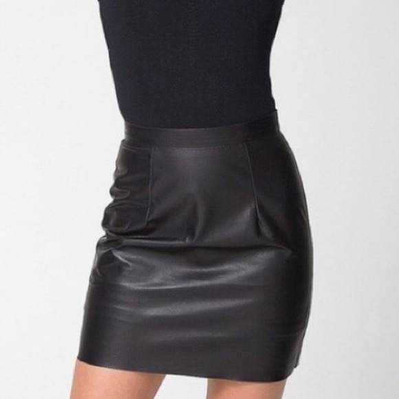 best site modern techniques online here Genuine Lambskin American Apparel Leather Skirt